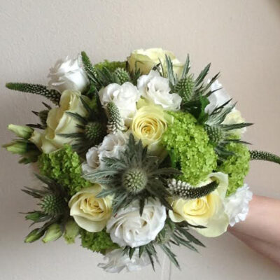Flowers By Isabel Wedding Florist Cream Traditional Scottish Handtie