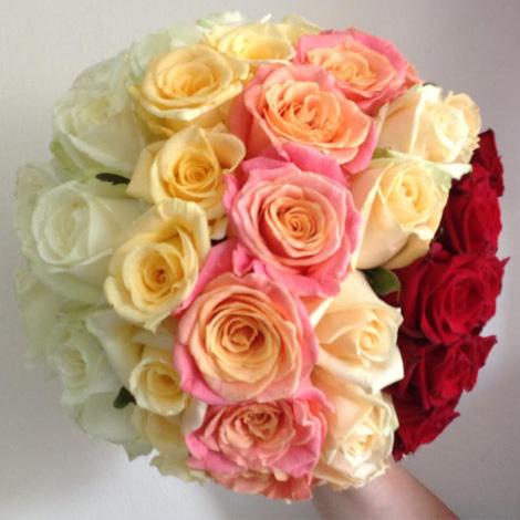 Flowers By Isabel Wedding Florist Rainbow Handtie
